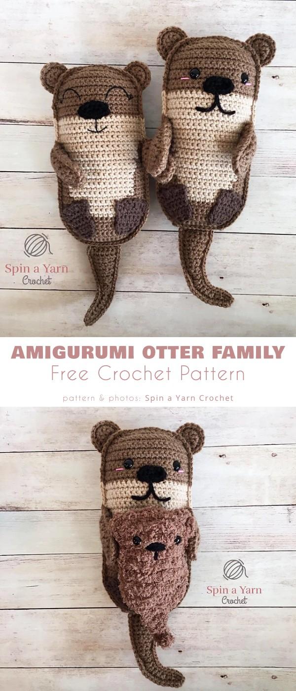 Amigurumi Otter Family