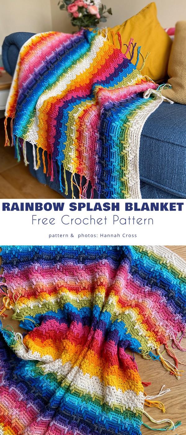 Rainbow Splash Blanket