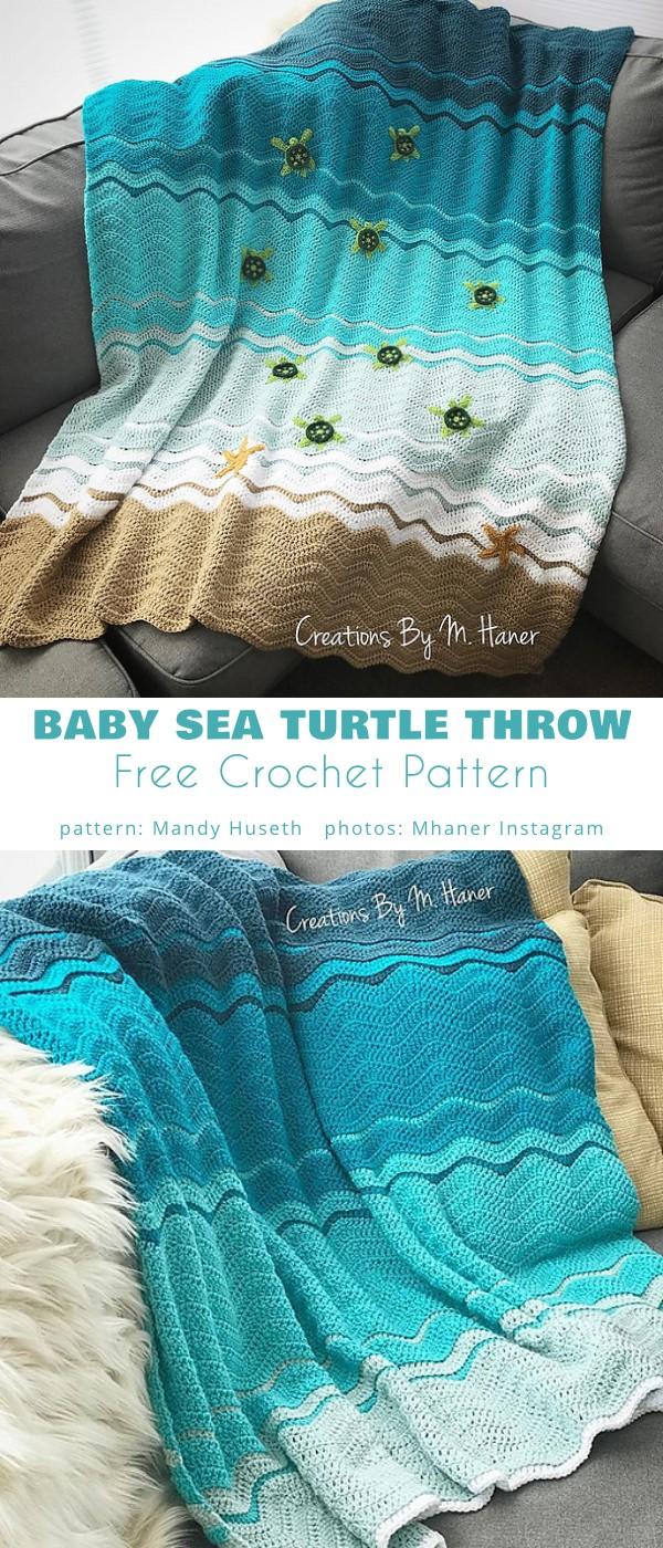 Baby Sea Turtle Throw