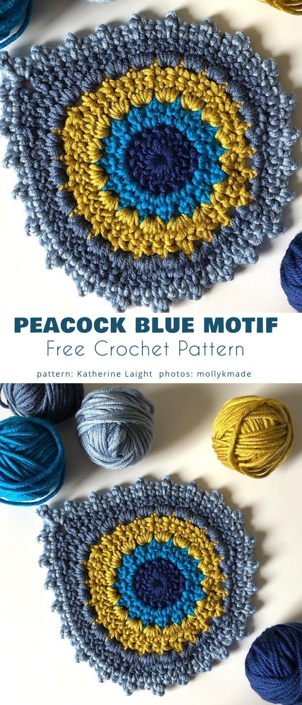 Peacock Blue Motif