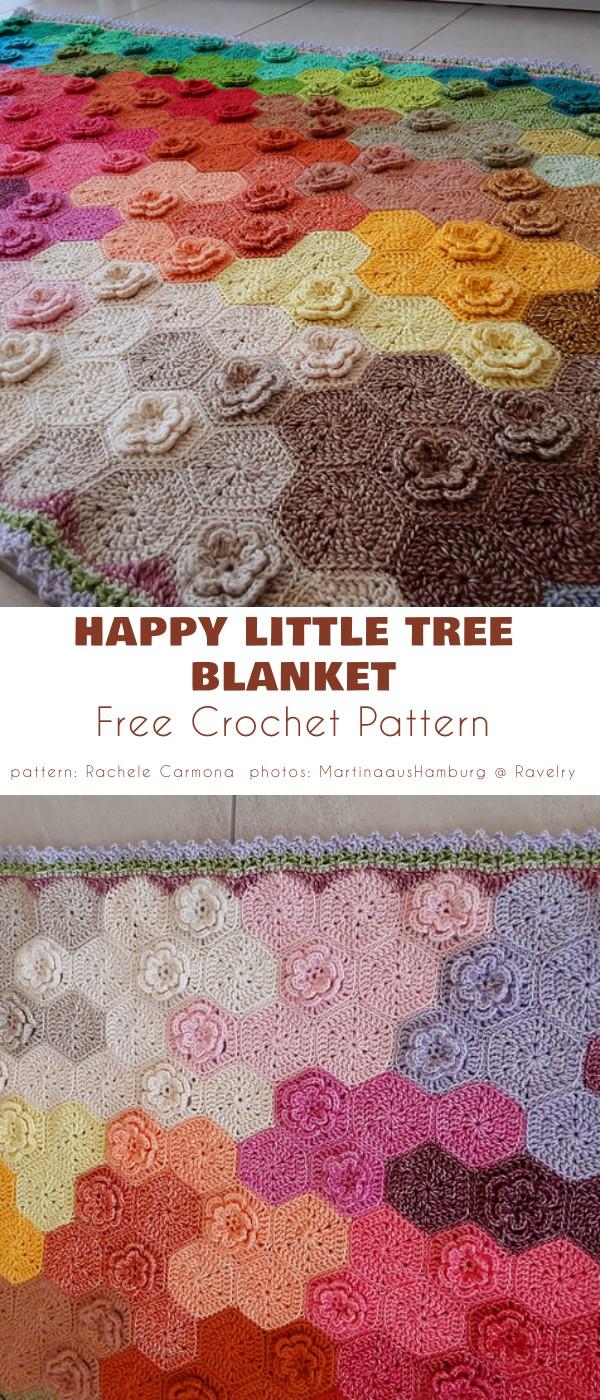 Happy Little Tree Blanket