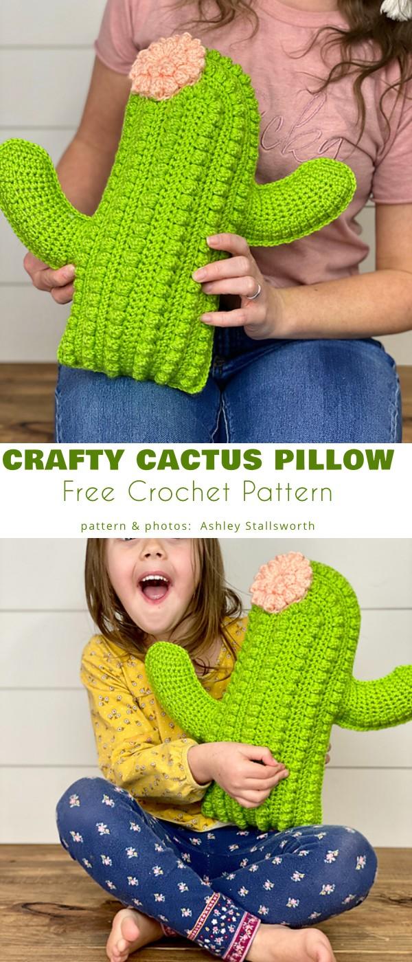 Crafty Cactus Pillow