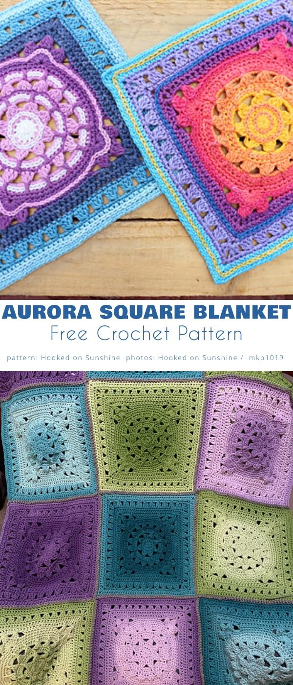 Aurora Square Blanket
