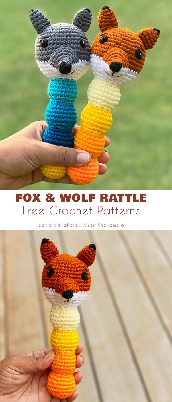 Ferdi the Fox & Walt the Wolf Rattle