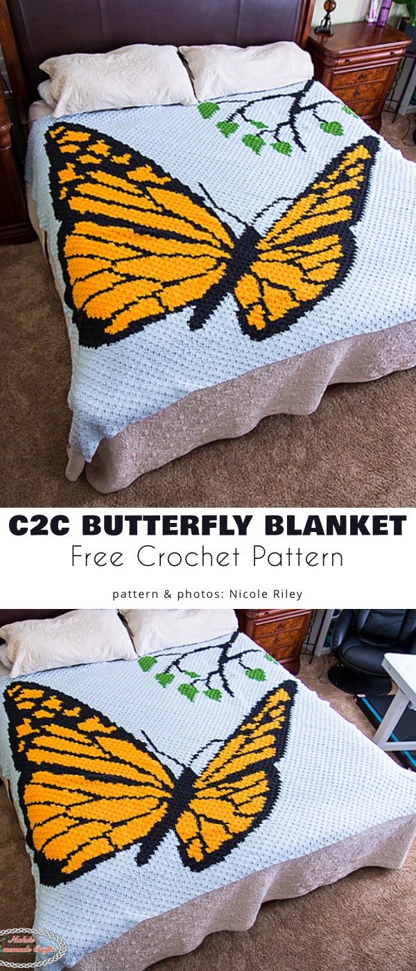 C2C Butterfly Blanket