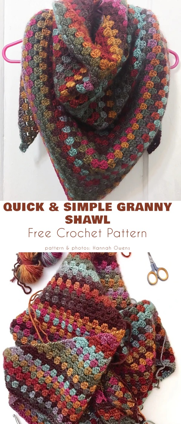 Quick and Simple Granny Shawl