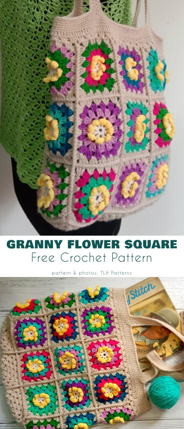 Granny Flower Square Bag