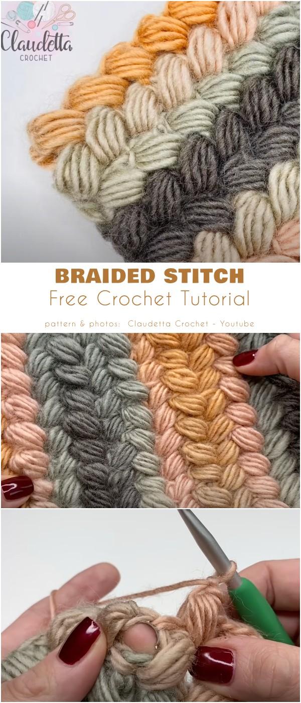CROCHET BRAIDED STITCH / EASY