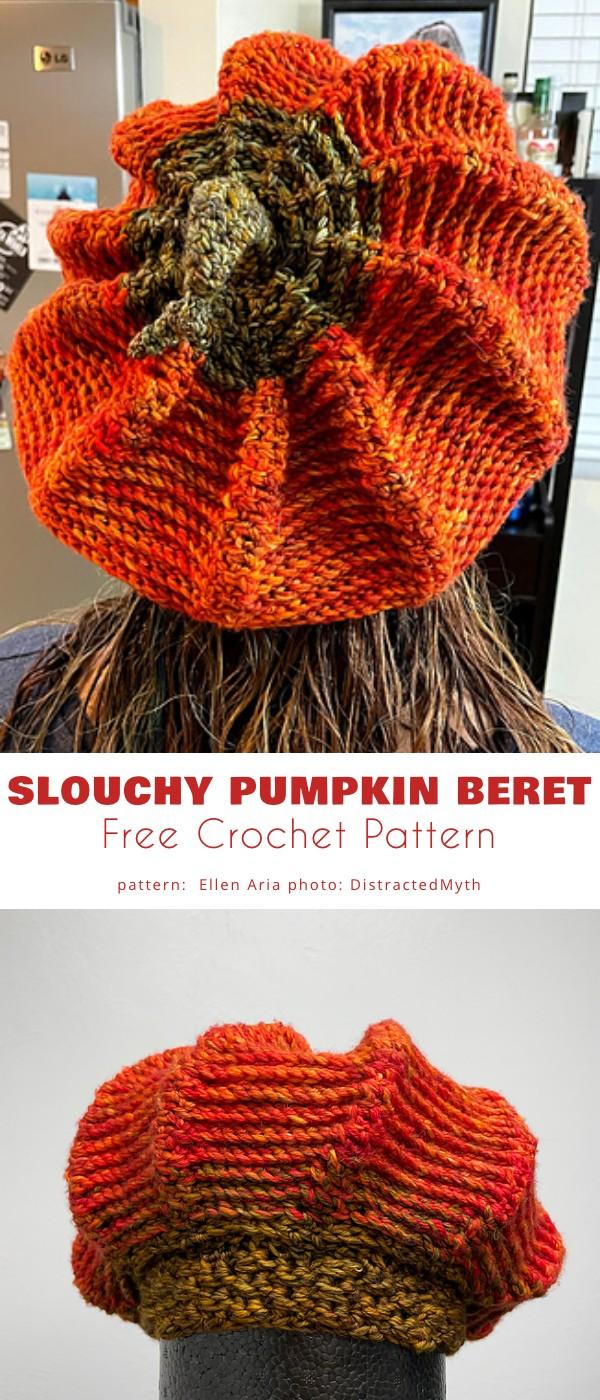 Slouchy Pumpkin Beret