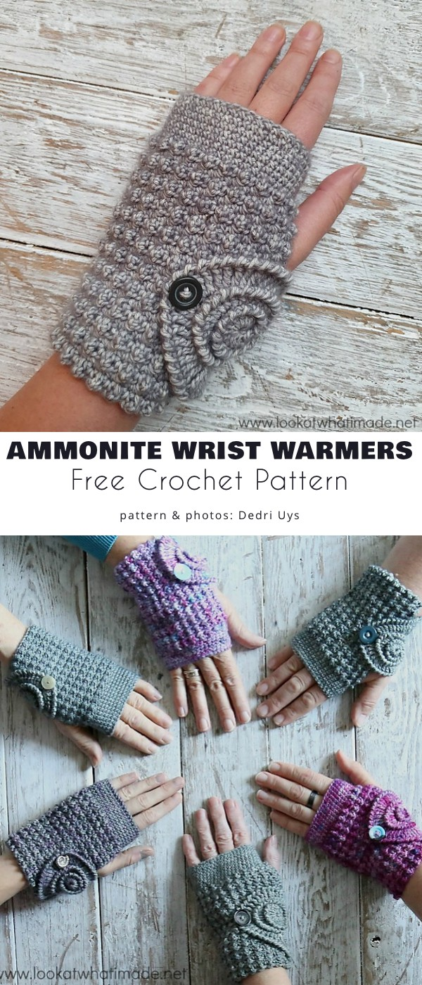 Ammonite Wrist Warmers