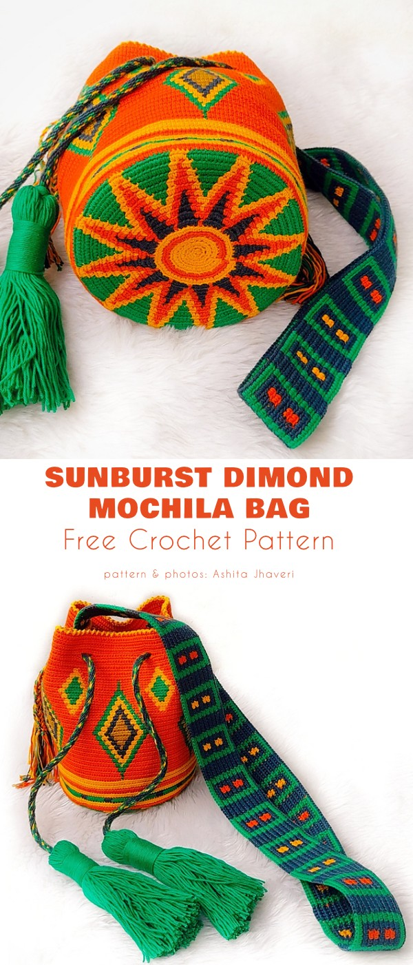 Sunburst Diamond Mochila Bag