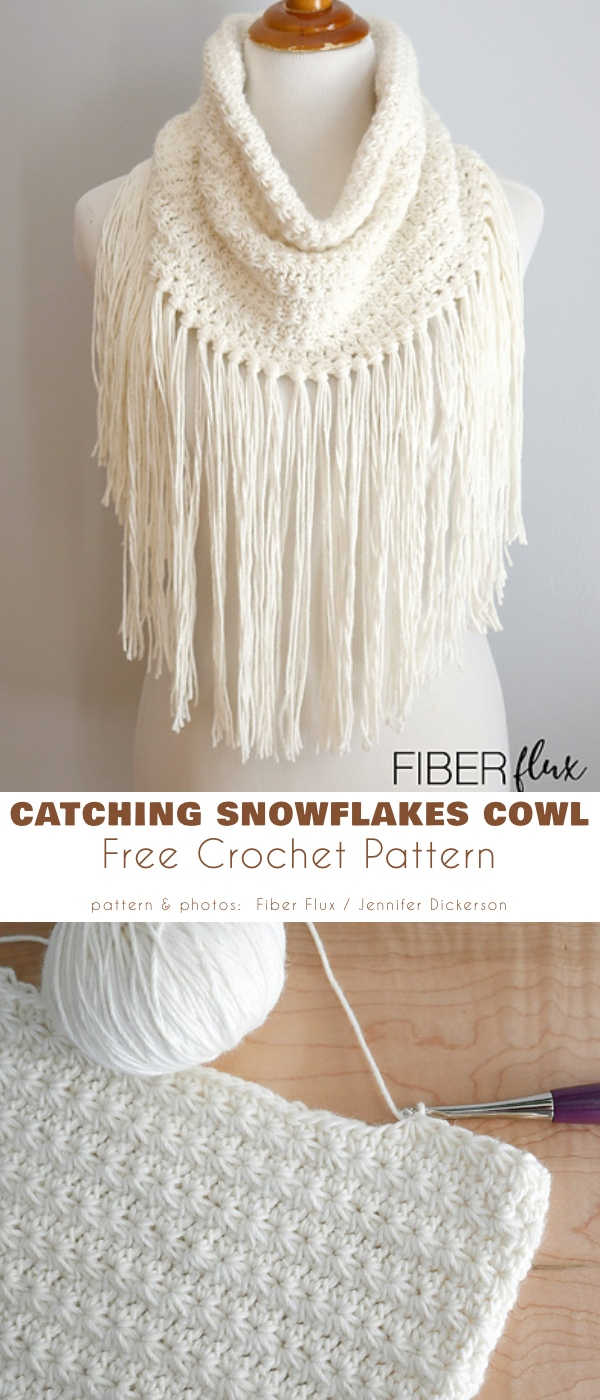 Catching Snowflakes Cowl